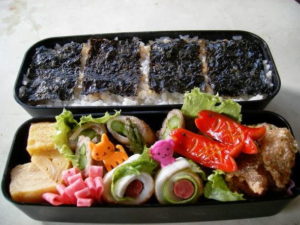 Bento lunchbox kit pronto per l'utilizzo