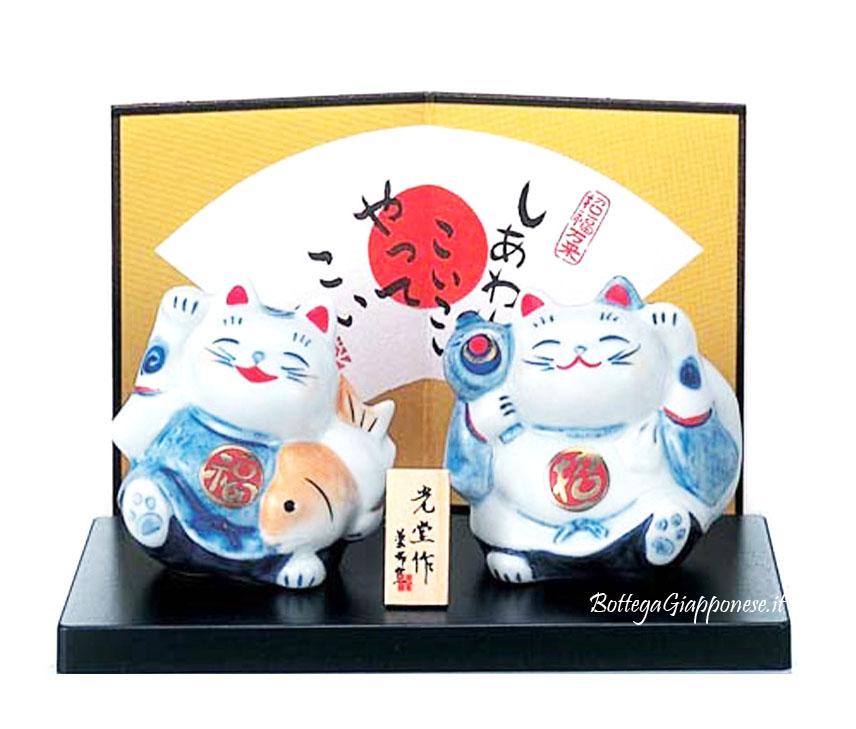Maneki Neko coppia nishiki