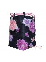 Borsetta accessori Kinchaku Peonia rosa