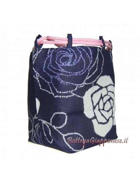 Borsetta accessori Kinchaku Rosa bianca