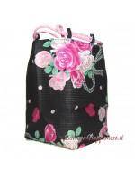 Borsetta accessori Kinchaku Bouquet di rose