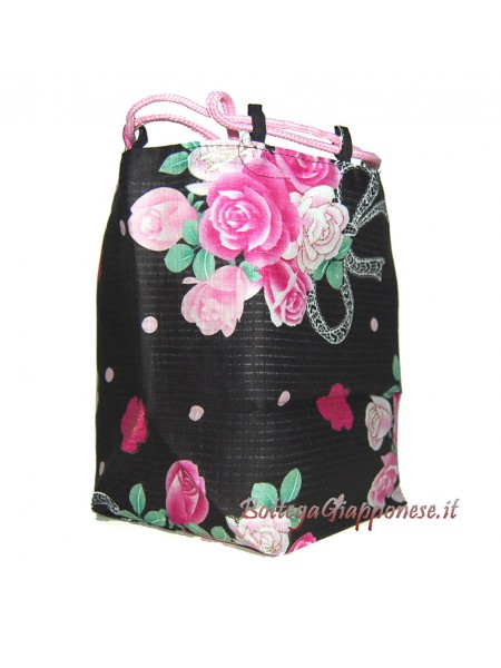 Borsetta accessori Kinchaku Bouquet di rose