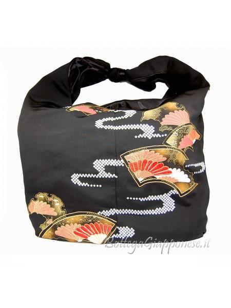 Borsa kimono in seta nera