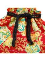 Borsetta kinchaku rossa con manico