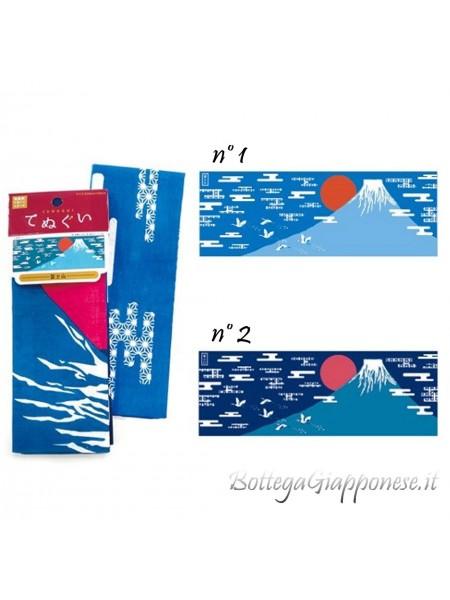 Tenugui bandana monte Fuji (mod. Azzurro n.1)