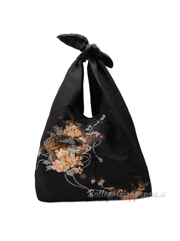 Borsa kimono in seta ventaglio