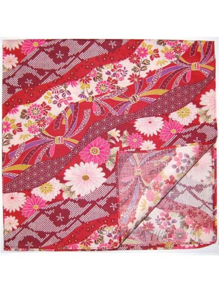 Furoshiki tradizionale fiocchetti rosso (53x53cm)
