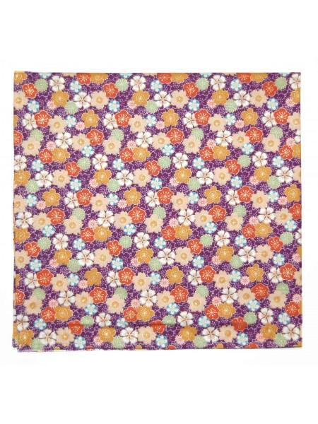 Furoshiki motivo fiori ume sakura su sfondo viola (52x52cm)