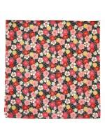 Furoshiki motivo fiori ume sakura su sfondo nero(52x52cm)