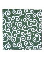 Furoshiki motivo karakusa su sfondo verde (52x52cm)