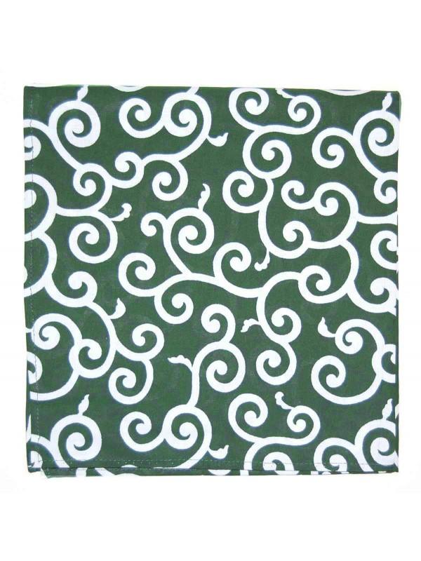 Furoshiki motivo karakusa su sfondo verde (54x54cm)