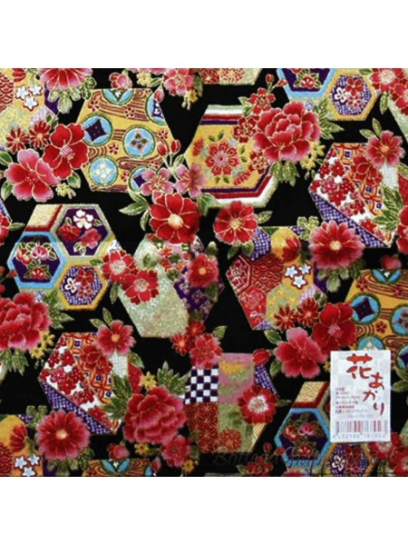 Furoshiki motivo fiori colorati (52x52cm)