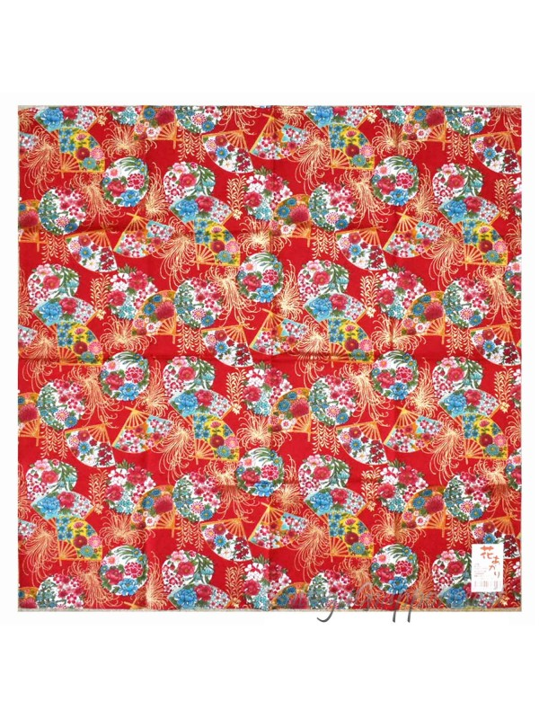 Furoshiki motivo ventagli e fiori (52x52cm)
