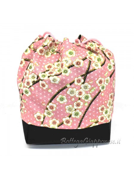 Borsetta Kinchaku rosa sakura