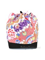 Borsetta Kinchaku rosa temari