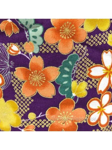 Borsetta Kinchaku viola sakura