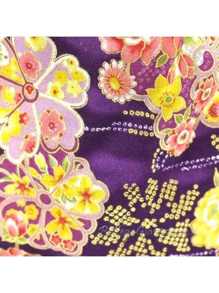 Borsetta Kinchaku viola shibori