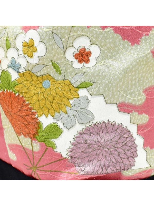 Borsetta Kinchaku seta damascata rosa