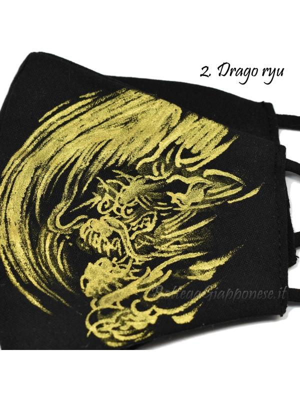 Maschera disegno fatto a mano Ryu e Koy