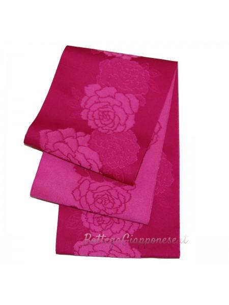 Obi cintura fiori damascati yukata kimono