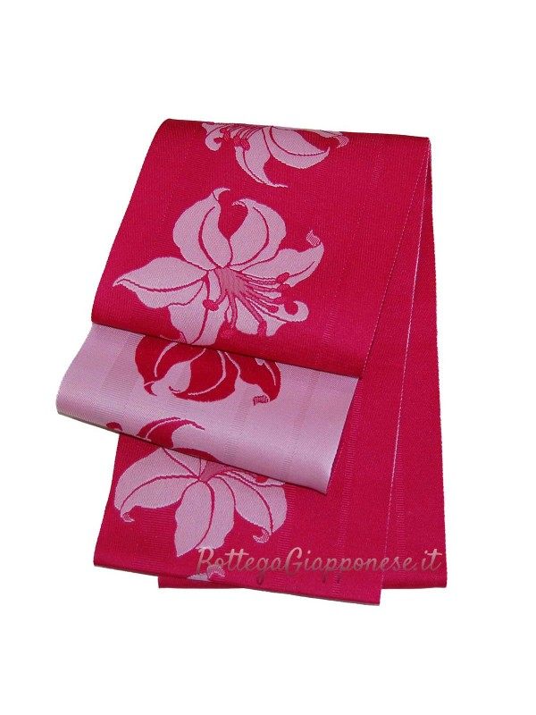 Obi cintura gigli yukata kimono