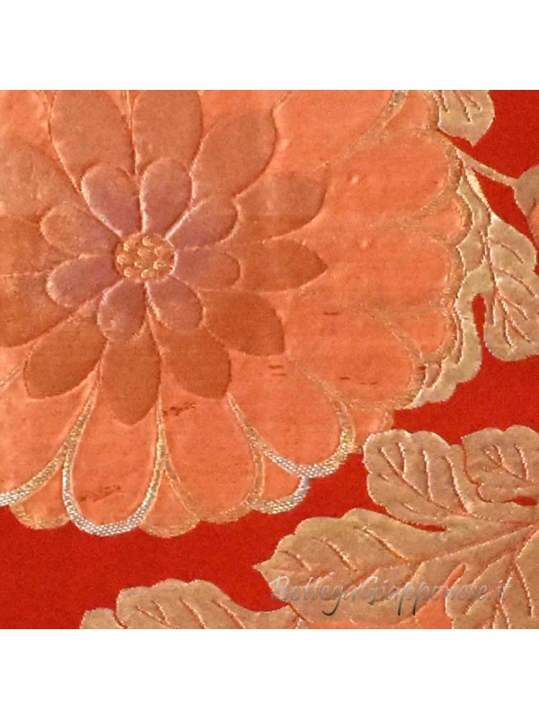 Fukuro-Obi kiku cintura arancio kimono