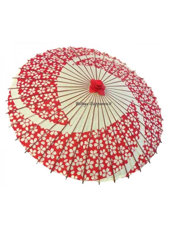 Wagasa parasole grande sakura rosso