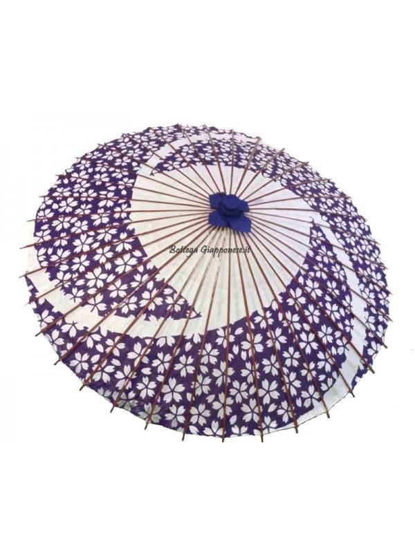 Wagasa parasole grande sakura viola