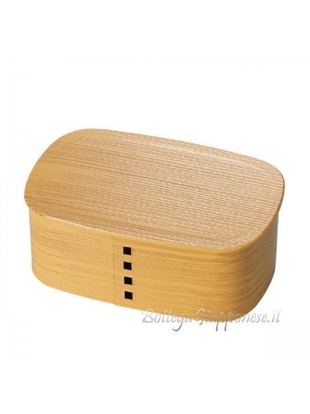 Bento box wappa effetto legno chiaro