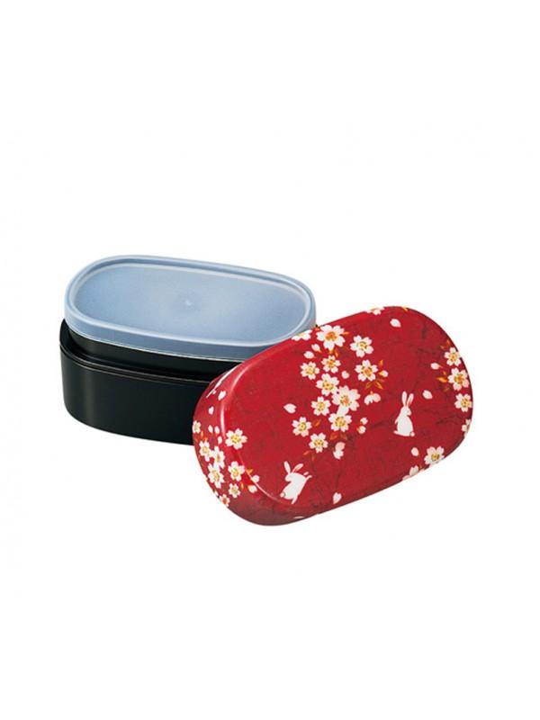 Bento rosso fiori sakura e usagi
