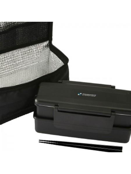 Bento box due piani con bacchette e borsa
