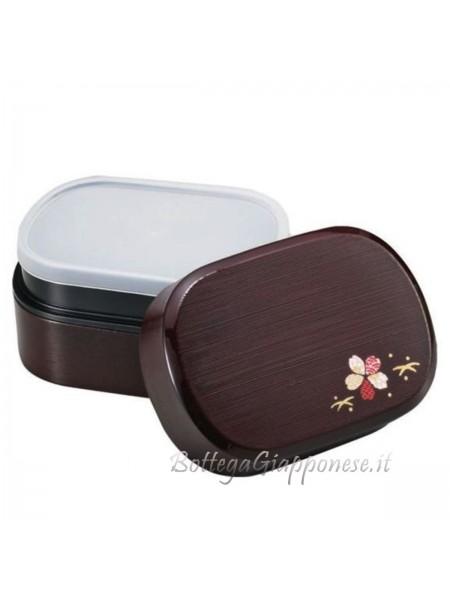 Bento lunchbox sakura effetto legno