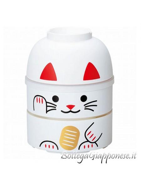 Bento kokeshi maneki neko bianco 700ml