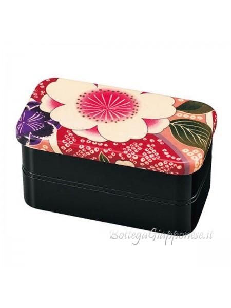 Bento giapponese rosa shibori