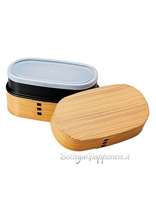 Bento box venatura legno hinoki