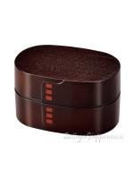 Bento box design legno colore mogano