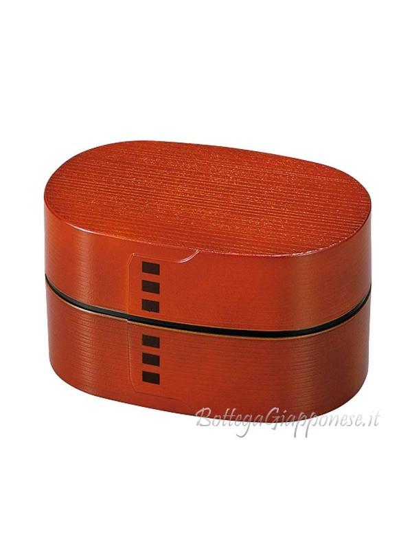 Bento box design legno colore rosso