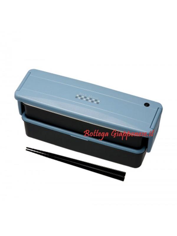 Bento lunch box blu con bacchette