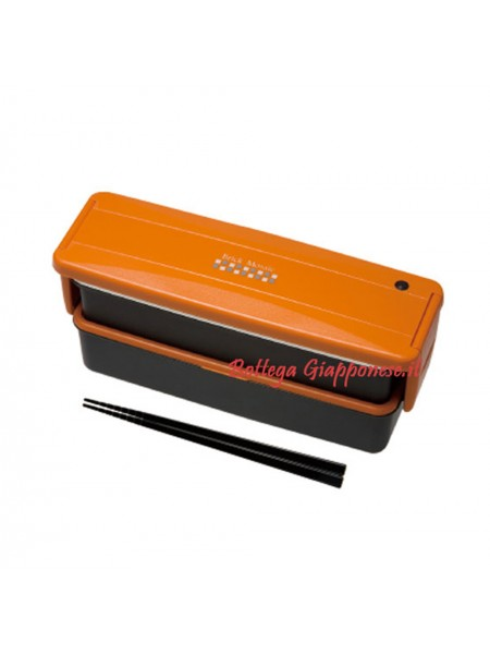 Bento lunch box arancio con bacchette