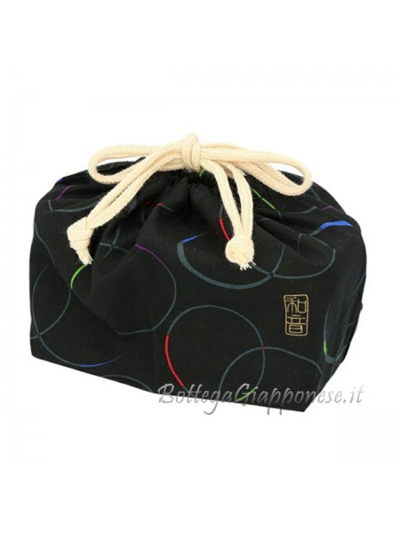 Bento completo di borsa e bacchette set Cerchi