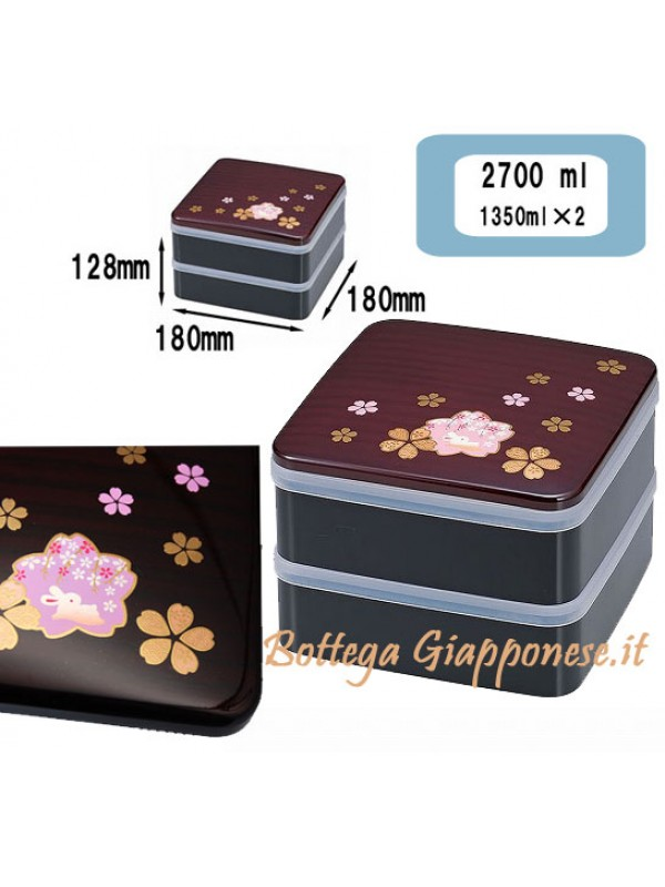 Bento jubako Sakura/usagi big lunchbox