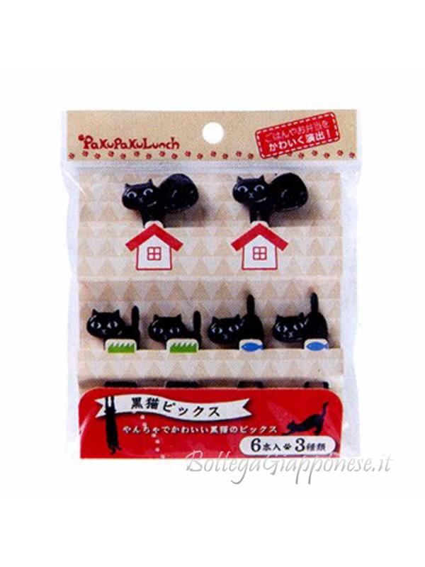 Picks black cat stecchini decorativi