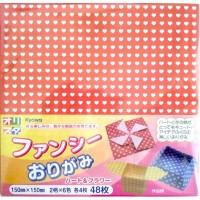Fogli carta per Origami (48pz) cuori e fiori