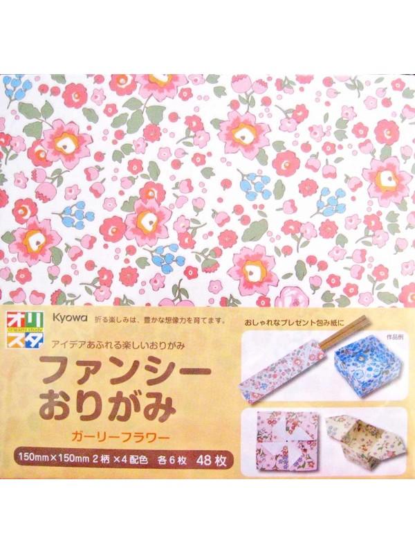 Fogli carta per Origami (48pz) fiori pastel