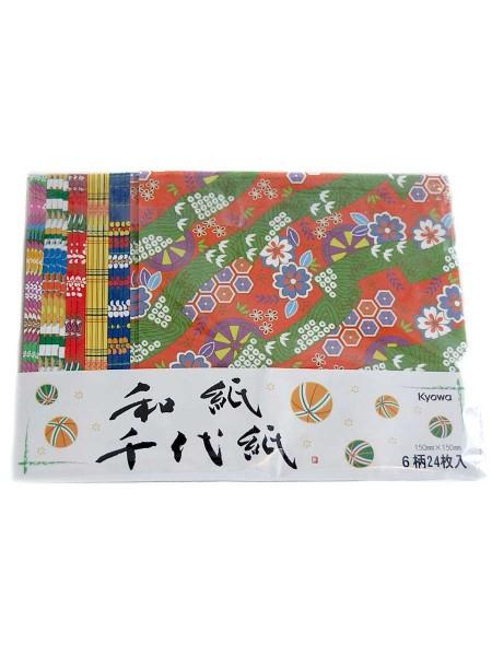 Fogli Origami yuzen (24 fogli) misti