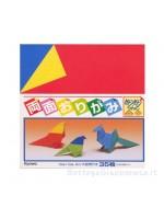 Fogli Origami pastello colore differente per lato