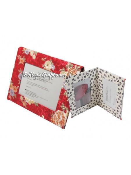 Cornice porta foto quattro spazi rosso bianco