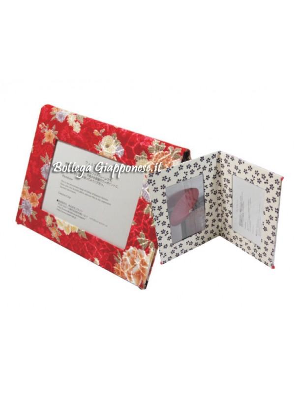 Cornice porta foto quattro spazi rosso-bianco