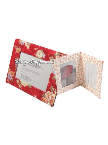 Cornice porta foto quattro spazi rosso-rosa