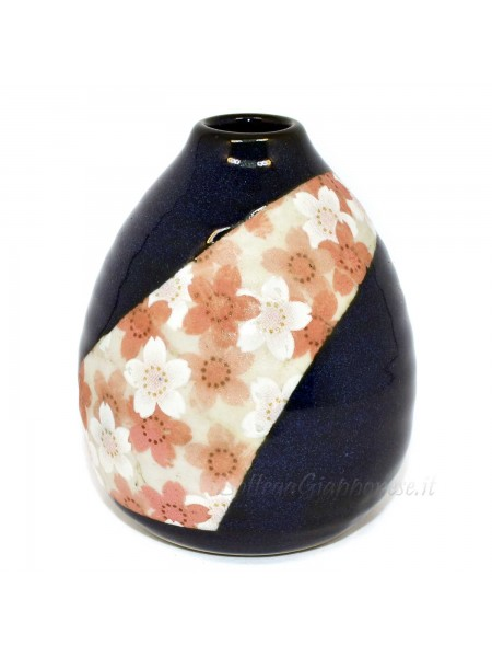 Vaso per fiore in ceramica disegno sakura